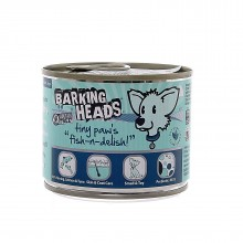 "Barking Heads Wet Tiny Paws Fish and Delish/  Консервы для собак мелких пород с лососем, тунцом и сельдью ""Рыбка-вкусняшка"" 200г"