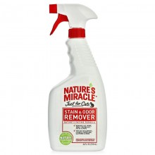 Nature's Miracle Just For Cats Stain&Odor Remover Trig Spray/ Спрей-уничтожитель запахов кошачьих меток и мочи 946мл