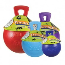 Jolly Pets Tug-N-Toss Ball/ Мяч с ручкой для собак розовый 11,43см