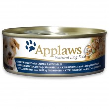Applaws Applaws Dog Tin Chicken with Salmon, Veg/ Консервы для собак с курицей, лососем и овощами 156г