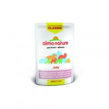 Almo Nature Classic Nature Jelly - Tuna and Shrimps/ Паучи Тунец и Креветки в Желе для кошек 55г