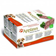 "Applaws Dog Pate MP Fresh Selection- Turkey, Beef, Ocean Fish/ Набор для Собак ""Индейка, Говядина, Океаническая рыба"" 5шт *150г"